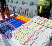 Policía de Cundinamarca  incautó  15 toneladas de pólvora
