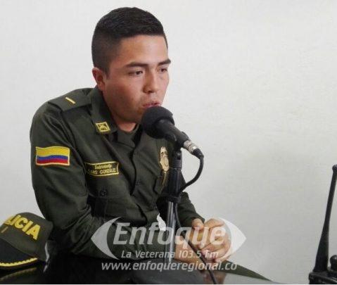 Luis González, nuevo subcomandante de estación de Policía Líbano