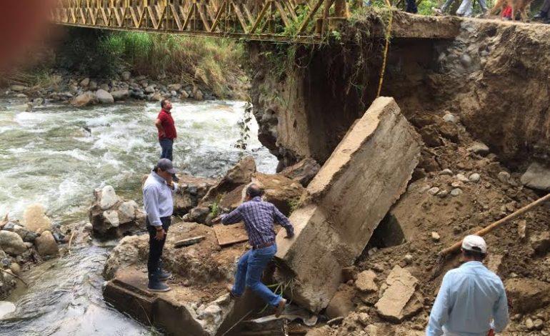 Declarada emergencia vial en puente Hatoviejo en Rovira