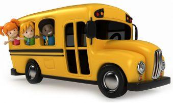 Transporte Escolar de los niños en proceso