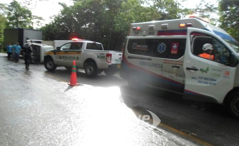 Accidente en la vía Ibagué – Líbano