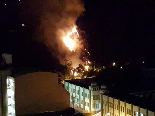 Incendio forestal de grandes magnitudes en Cerro Gordo