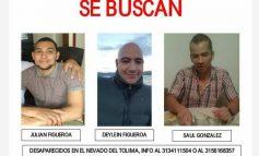 Encontrados 2 de los 3 montañistas desaparecidos en el Nevado del Tolima