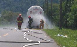 Emergencia por fuga en Camión Cisterna de Gas licuado de petroleo