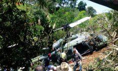 Helicóptero del Ejercito Nacional se accidentó