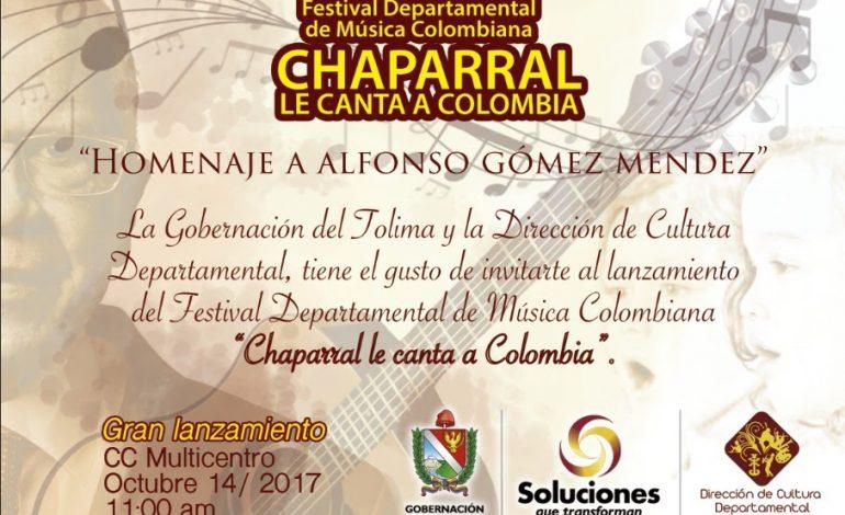 Lanzamiento del Festival Departamental de Música Colombiana