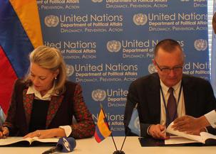 Colombia y Naciones Unidas firmaron el acuerdo para el funcionamiento de la segunda Misión Política Especial de la ONU