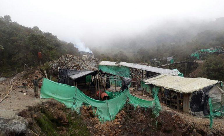 Inhabilitan mina ilegal en Toche que producía 40.000 gramos de oro mensual