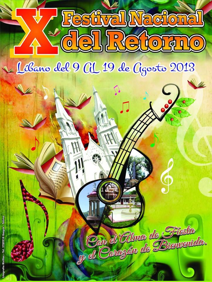 Afiche X Festival Nacional del Retorno Líbano 2013