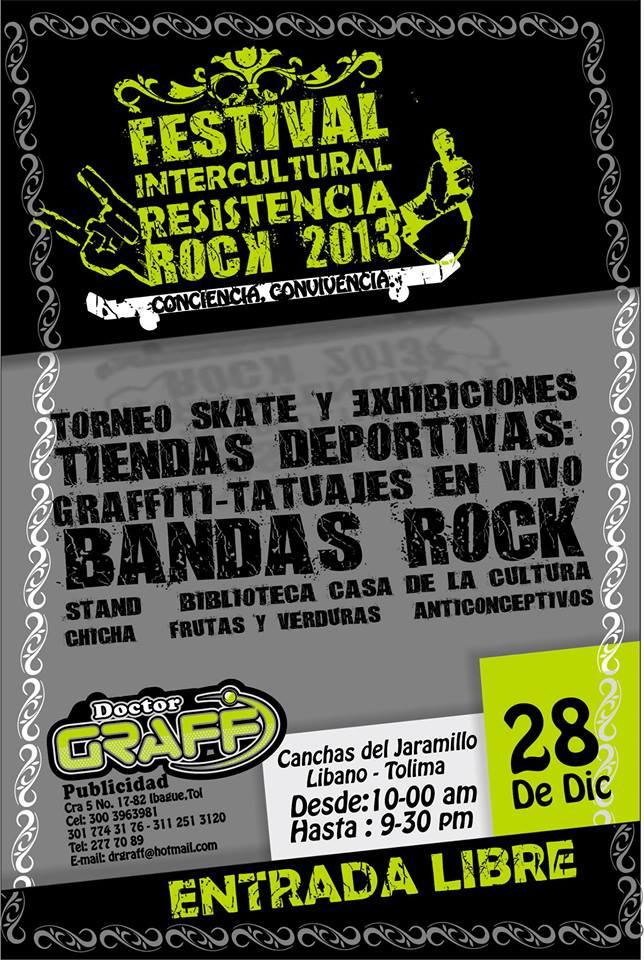 Mañana sábado 28 de diciembre se realizará el 1er Festival Intercultural Resistencia Rock 2013